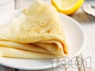 Бързи палачинки с кисело мляко и ванилия